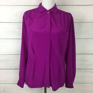 Christian Dior Vintage 80's Button-down Blouse